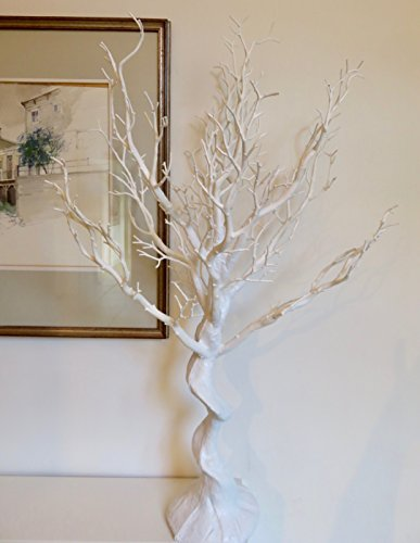 Sintética de boda color blanco Manzanita árbol. Uso en interiores. Altura: 77cm (más de 30pulgadas)