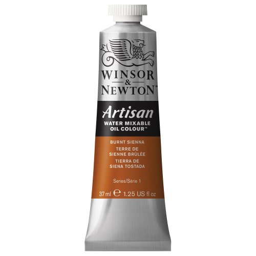 Winsor & Newton Artisan Water Mixable Oil Colour, 37ml Tube, Burnt Sienna