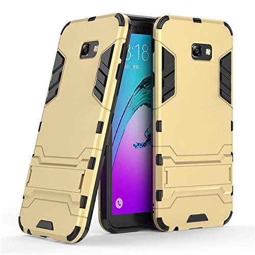 Chengxin para Samsung Galaxy J4 J6 Plus J8 2018, funda de armadura anticaídas a prueba de golpes para Samsung Galaxy J2 J3 J5 J7 2017 (color: dorado, material: para J5 2016 J510)