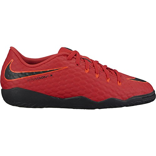 Nike Unisex kinderen Hypervenom X Phelon III IC JR 852600 Sneakers, rood (universiteit rood/zwart-helder karmozijnrood 616), 34 EU