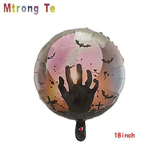 Best Bargain Xucus 50pcs 18inch Round Shape Halloween Foil Helium Balloons Pumpkin Skull Head Decor ...