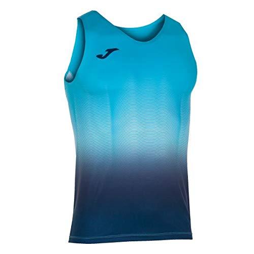 Joma Elite Camiseta Running sin Mangas, Hombres, Turquesa-Marino, S