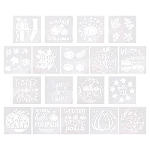 IMIKEYA Plantilla de Dibujo Reutilizable Plantilla de Pintura de Grafiti de 18 Piezas