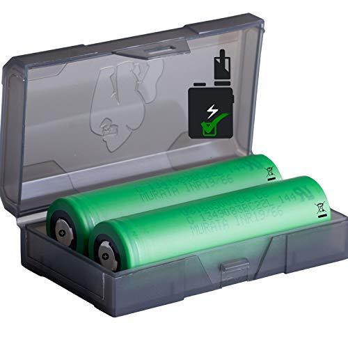 18650 VTC6 2er Pack High Drain Akku - 3,7V / 15/30A / 3120mAh - Akkus speziell für eZig/E Shisha mit Schutzschaltung