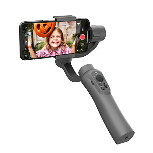 CINEPEER Phone Gimbal, 3-Axis Gimbal Stabilizer for iPhone 12/11/X/XS, Samsung Android Phone, ZY Play App Support, Smooth Video Gimbal - Gray - CINEPEER C11