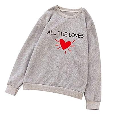 Leewos Men or Women Lovers' Hoodie All The Loves Long Sleeve Sweatshirt Pullover(Gray,XL)