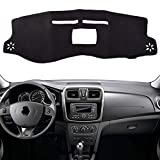 GIVELUCKY  pour Renault Dacia Logan 2 2013-2019 Symbole 2012-2019, Car Dashboard Cover Dash Mat Pad Dash Board Cover Carpet Auto