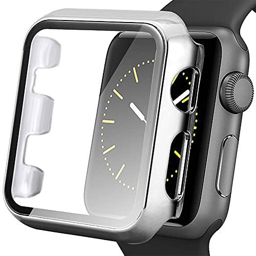 AISPORTS Compatible con protector de pantalla de Apple Watch de 40 mm, iWatch Series 6/5/4/SE, funda ultrafina de PC rígida HD transparente, funda protectora completa para Apple Watch Series 6/5/4/SE