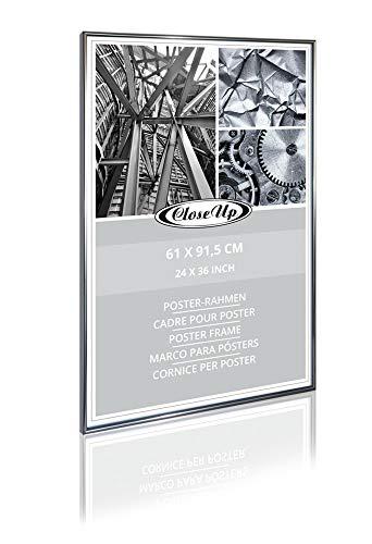 Close Up Posterrahmen, Bilderrahmen 61 X 91,5cm, Anthrazit Metallic f. große Poster