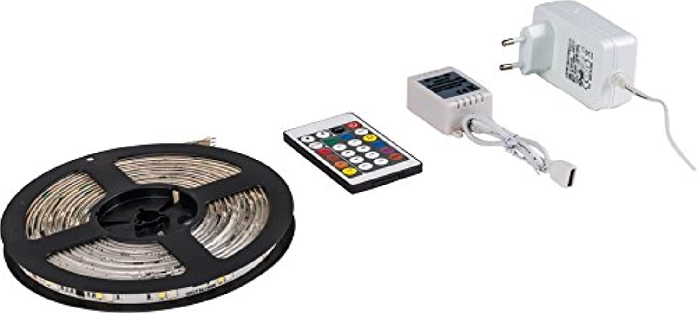 Heitronic LED Strip LED DIGITAL STRIP 5M RGB + WARMWEISS IP20 IP20  LEDs fest verbaut 24W Farbwechsel  38037