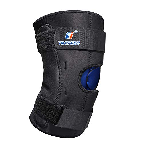 Knee Brace for Women Men,T Timtabo Hinged Knee Brace Support for Knee Stabilizer,Neoprene Knee Support Wrap for Arthritis,Athletic Compression Leg Brace for Sports Trauma,Sprains,Pain Recovery