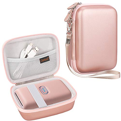 Canboc Shockproof Carrying Case for Fujifilm Instax Mini Link Smartphone Printer & INSTAX Share SP-2 Smart Phone Printer | Storage Travel Bag Portable Fits USB Cable & Mini Instant Film, Rose Gold