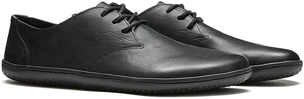 Vivobarefoot Ra Lux, Mens Handcut Luxury Oxford Leather Lace Up Shoe with Barefoot Sole