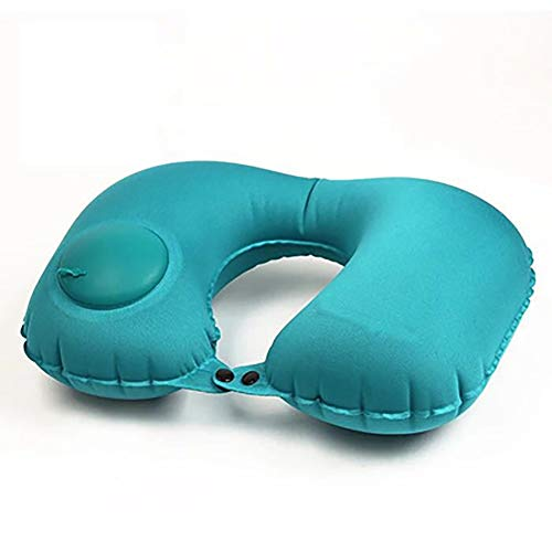 GDD Travel Pillow Neck Cushion Inflatable Travel Pillow, Neck-shaped U-shaped Pillow, Pressing The Air Neck Pillow Used For Travel Aircraft Car Office Nap (Color : C, Size : 40cm*28cm)