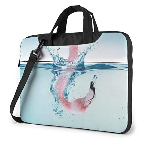 Laptop Case Computer Bag Sleeve Cover Flamingo Art Picture Waterproof Shoulder Briefcase