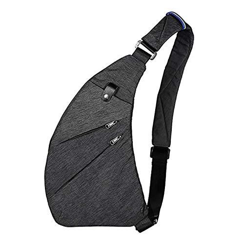 Crossbody Sling Bag Schultertasche Anti-Diebstahl Brusttasche Multi-Pocket-Rucksack für Herren Und Damen