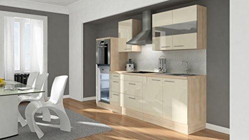 respekta Premium Küchenzeile Hochbau 270 cm akazie vanille HG APL akazie - RP270HAVA