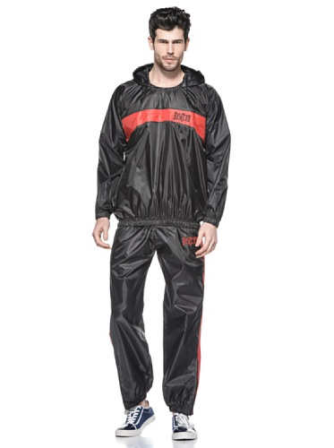 BENLEE Rocky Marciano Unisex – Erwachsene Light Weight Sauna Suit, Black/Red, XXXL