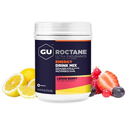 GU Energy Roctane Ultra Endurance Energy Drink Mix, 1.72-Pound Canister, Lemon Berry