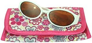 Sophia's 18 Inch Doll White Sunglasses & Case, 2 Pc. Set, Perfect for 18 Inch American Girl Dolls Clothes & More, White Doll Glasses & Floral Print Eyeglass Case