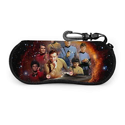 Star Trek - Funda para gafas de sol, resistente al agua, con mosquetón, con cremallera, portátil, con clip para cinturón