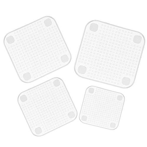 Juego de 4 piezas de silicona para envasado de alimentos, funda elástica para alimentos frescos, herramientas de cocina reutilizables, 4 unidades