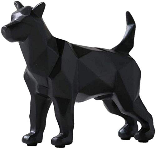 Equipo de Vida Artículos Decorativos Estatuas de Animales Figuras de jardín Estatua Figura de Lobo Blanco y Negro-Escultura de Animal de Origami Simple-Decoración del hogar