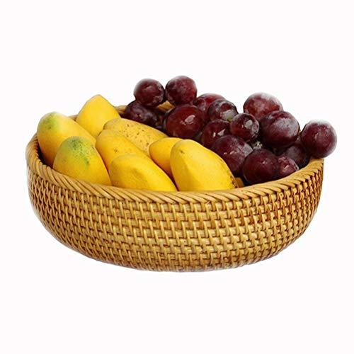 Sauce Pan Huishoudelijke handgeweven fruitmand rotan brood mand multifunctionele mand thuis salontafel afwerking opslag geweven mand keuken groentemand