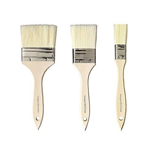 壁紙屋本舗 刷毛 ハケ ペンキ ニス 塗装 水性 掃除 3サイズセット 約2.5cm 約5cm 約7.5cm