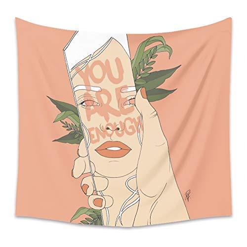 Tapiz floral de niña rosa para mujer, flor rosa, colgante de pared, tapiz bohemio, manta de tela de fondo, toalla de playa A7 180x200cm