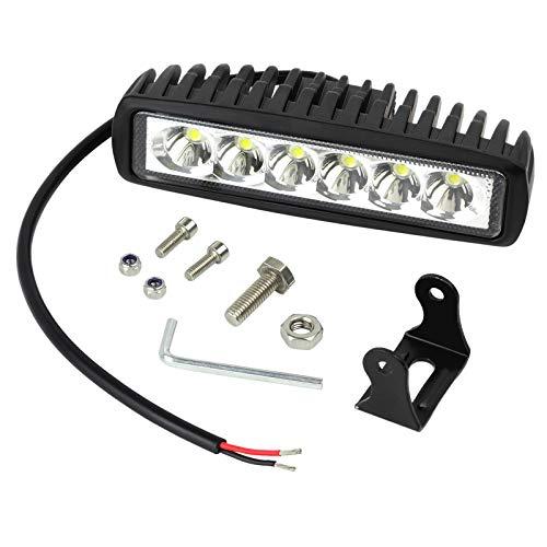 Justech 18W Faro da Lavoro Barra LED Proiettore Riflettore Faretto a LED Fendinebbia Lampada Luci da Lavoro Luce di Proiettore a LED Proiettore Riflettore