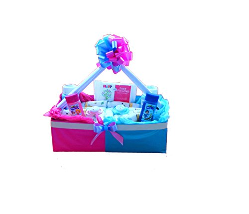 Windeltorte Zwillinge   Windelkörbchen   Baby Geschenkset zur Geburt & Taufe
