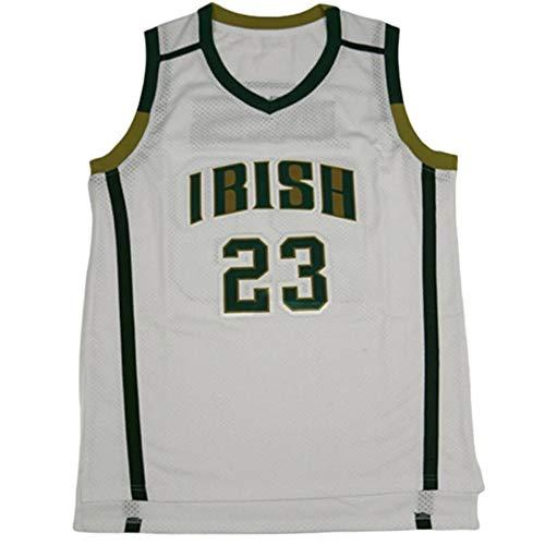 QIMEI Custom Men's Lebron #23 High School Basketball Jersey E23 White