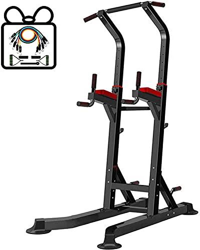 KEYREN Dip Stand Home Multi Gym Gym Torre DE Potencia MULTIFONA, Altura Ajustable TURTE Superior TUREA Torre DE Dip DE Dip Equipo DE Fitness para el Gimnasio para el hogar Admite a 330 LB