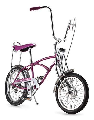 Schwinn Classic Old School Krate Bike, Ape Handlebar and Bucket Saddle, 20-Inch Wheels, Grape