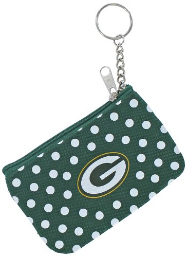 NFL Green Bay Packers Coin/ID Purse, Polka Dots