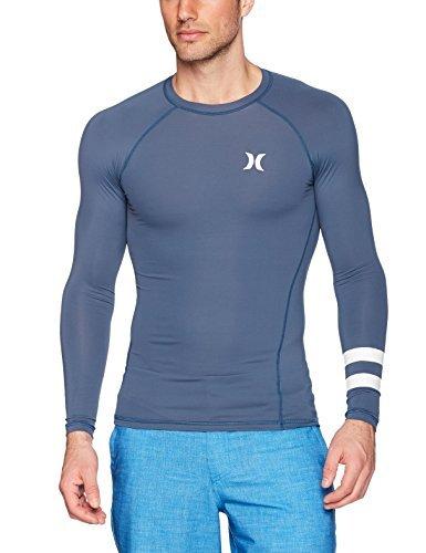 Hurley Men's Long Sleeve Pro Light Quick Dry Sun Protection Rashguard, Squadron Blue, L
