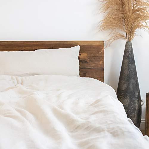 pure shores® französische Leinenbettwäsche 135x200 cm mit Reißverschluss, Dune-Beige