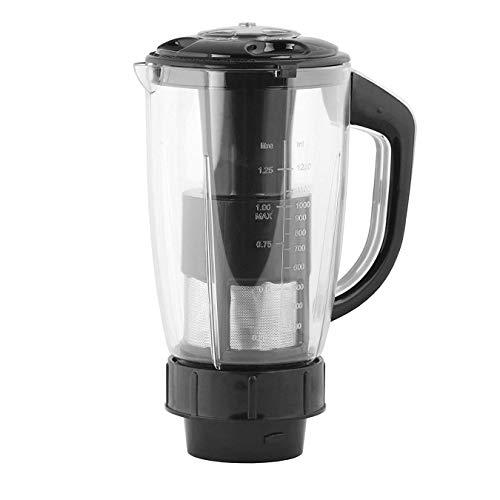Gemini Durable Powerful Juicer Jar for Mixer Grinder Juicer Jar with Fruit Filter ABS Plastic Capacity 1500ML Plastic, Black Make in India