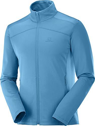 Salomon Herren Fleece-Weste, DISCOVERY LT FZ, Polyester/Elasthan, blau (fjord blue), Größe: XL, LC1294000