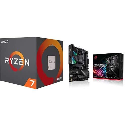 AMD Ryzen 7 3800X, Procesador con Disipador de Calor Wraith Prism (32 MB, 8 Núcleos, Velocidad de 4.5 GHz, 105 W) + ASUS ROG Strix X570-F Gaming - Placa Base Gaming AMD AM4 X570 ATX con PCIe 4.0