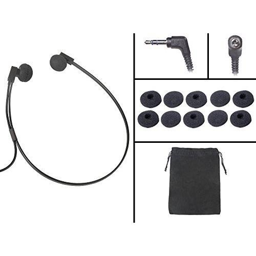 Spectra SP-PC 3.5 mm PC Stereo Transcription Headset with Extra 3 Pair Antimicrobial Ear Cushions
