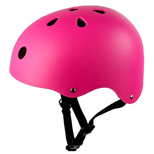 lhmlyl Cycle Helmet Ladies Round Mountain Road Bike Adult Kids Outdoor Sports Bicycle Skateboard Safety Strong MTB Cycling Helmet Cap 3 Size 6 Color-Pink_M_52_to_58cm