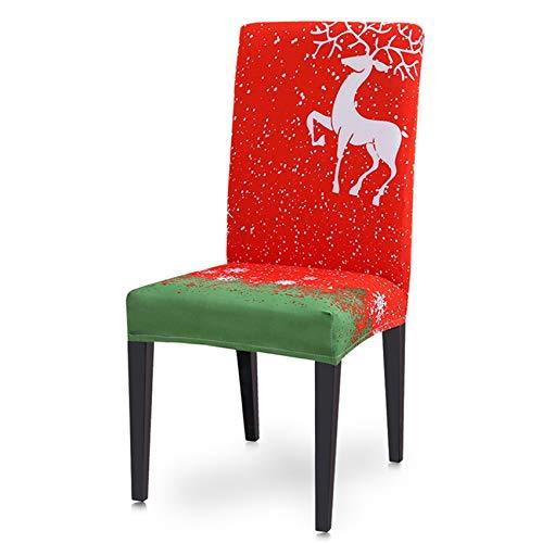 JOOFFF Weihnachten Stuhlhussen, Weihnachten Thema Stuhlhussen für Home Indoor Decor,Stil 1