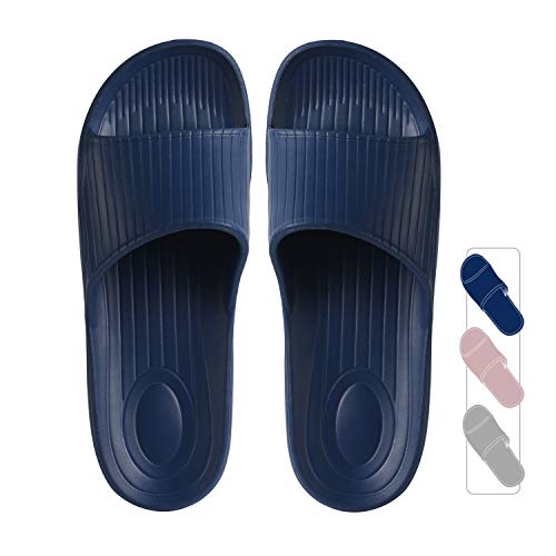 クモリ(Kumori)スリッパ 抗菌衛生EVA素材 室内履き サンダル 超軽量 滑り止め 男女兼用 トイレ用 歩きやすい シャワーサンダル バススリッパ ネイビー・XL(260-270)