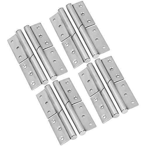 8 juegos de bisagras de acero inoxidable Bisagra de elevación Bisagra de puerta desmontable Accesorio de hardware para el hogar, bisagras Bisagra de puerta Bisagra de elevación de acero inoxidable