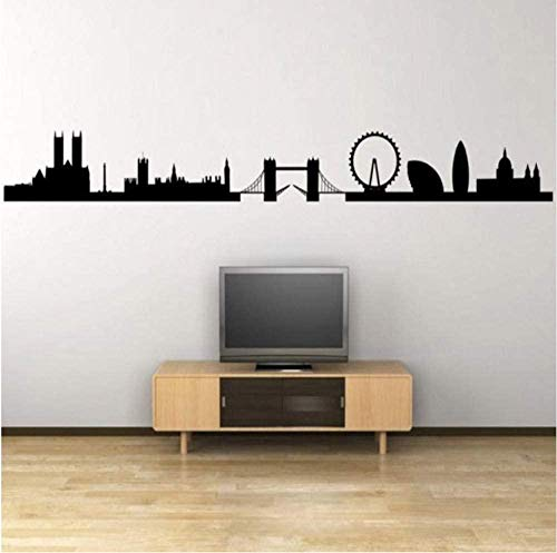 Wall Stickers Decal Panorama Silhouette - Giant Wall Sticker. Background Home Decor 9X75Cm