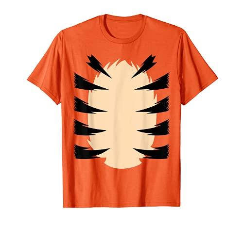 Disfraz de Tigre Naranja Traje León Niños Camuflaje Camiseta