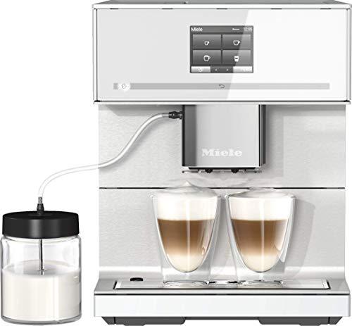 Miele CM 7350 CoffeePassion Stand Kaffeevollautomat / OneTouch for Two / Reinigungsprogramme / Cappuccinatore / Genießerprofile / Kannenfunktion / cremiger Milchschaum / Vernetzung / Brillantweiß