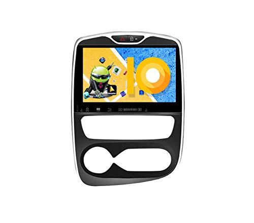ZWNAV Navegación GPS estéreo para coche Android 9.0 de 10.1 pulgadas para Renault Clio 2017-2018, Europa 49 Country Mapping, reproductor de DVD, SWC, Wifi, Bluetooth, pantalla táctil IPS